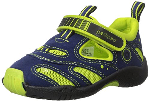 Stingray Water - pediped Flex Stingray Water Shoe (Toddler/Little Kid), Blue Lime, 26 EU(9-9.5 E US Toddler)
