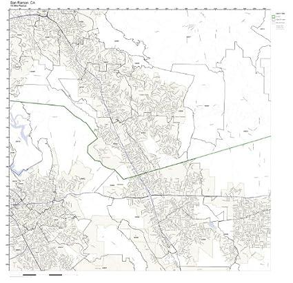 Amazon.com: San Ramon, CA ZIP Code Map Laminated: Home & Kitchen on