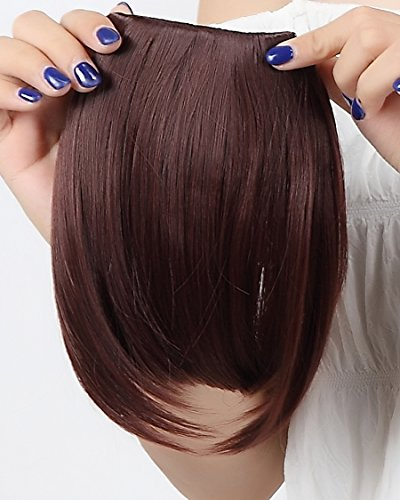 auburn clip in bangs - 6