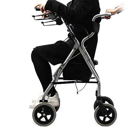 DGEMF Andador con Ruedas Marco Ligero de Aluminio para Caminar ...