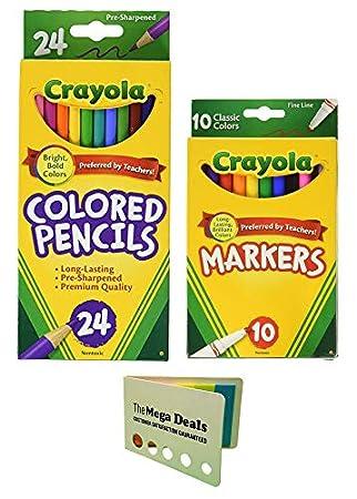 CRAYOLA TRTAZ11A Crayola Classic Fine Line Markers,10 Count Case of 24 BINNEY /& SMITH