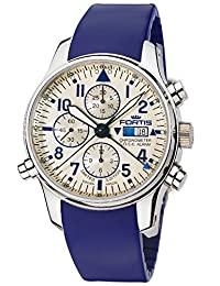 Fortis Watch Men's 702.20.92 SI.05 F-43 Flieger Chronograph Alarm Analog Display Automatic Self Wind Blue Watch