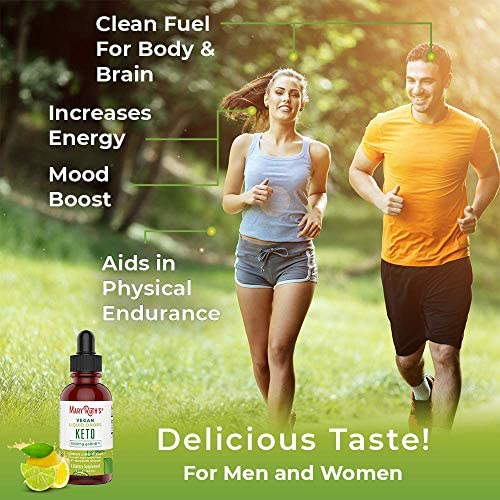Vegan Liquid Keto goBHB Drops – No Pills Keto Diet by MaryRuth s – Beta-Hydroxybutyrate Supplement – Vegan – Fat Burning – Promotes Weight Loss – Speed Up Ketosis – Lemon Lime Flavor – Non-GMO – 2 oz
