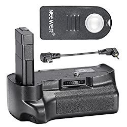 Neewer Remote Control Vertical Battery Grip Work With En-el14 Battery For Nikon D3200d3300 Slr Digital Camera