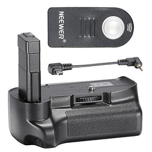 Neewer Remote Control Vertical Battery Grip Work with EN-EL14 Battery for NIKON D3200/D3300 SLR Digital Camera