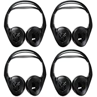 4) NEW AUDIOVOX IR1CFF Fold Flat Wireless Automotive Infrared Stereo Headphones