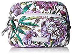 Vera Bradley has cleverly crafted a cosmetics case that adds a colorful touch to your vanity. The Iconic Medium Cosmetic case is the fashionable solution for storing your everyday beauty essentials - measuring 5.75 inches high, 7.75 inches wi...