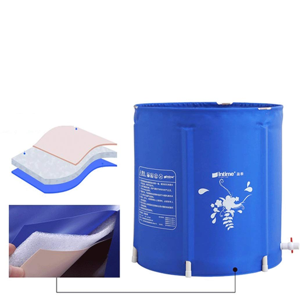 YONGYONG Household Blue Bath Bucket Thick Foldable Swimming Bath Tub 65CM*68CM (Color : A, Size : 65CM*68CM) by Yongyong (Image #3)