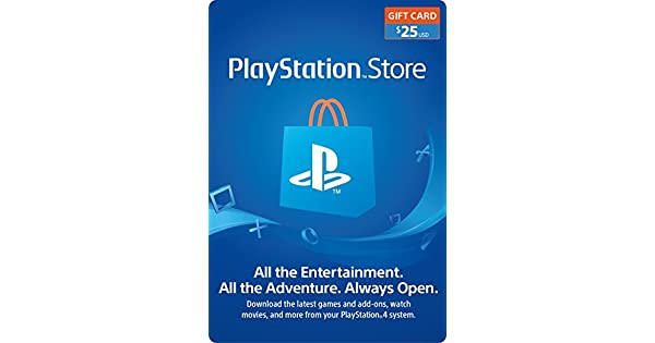 Amazon com: $25 PlayStation Store Gift Card [Digital Code