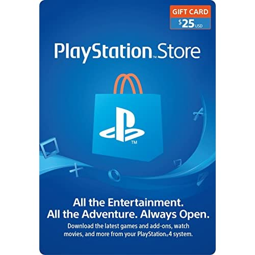 25 PlayStation Store Gift Card...