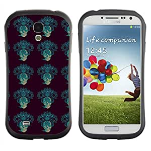 ArtSpace Premium Hybrid Back Case Cover Samsung Galaxy S4 IV i9500 ( Blue Skull )
