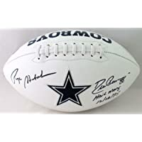 $443 » Authentic Autographed Roger Staubach Drew Pearson Cowboys Logo Football With Insc ~ Beckett W Auth