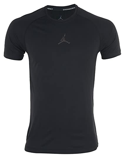 Amazon.com   Nike Jordan Stay Cool Fitted T-Shirt Mens 642409-010 ... 3ddacb33f5a