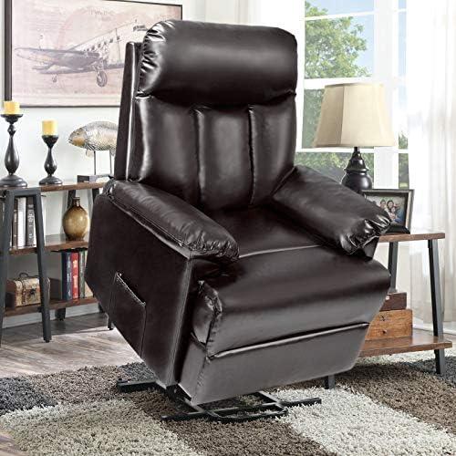 Power Lift Chair Soft PU Upholstery Recliner Living Room Sofa Chair