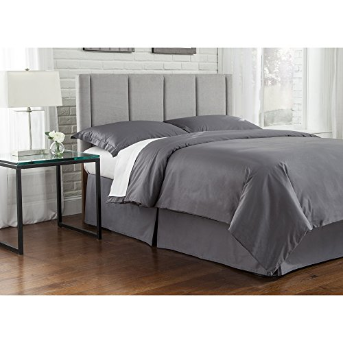 Fashion Bed Group B72780 Geneva Upholstered Adjustable Headboard Panel with Vertical Panels, Mist Finish, King/Cal King