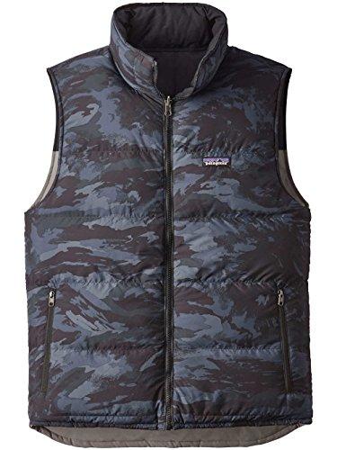 Patagonia Mens Reversible Bivy Down Vest, Feather Grey, ()