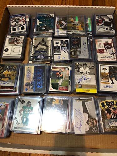 Football Card Mystery Box Guaranteed 1 Auto or Game-Used Card Per Box ()