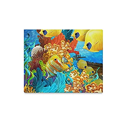 Amazon Com Enevotx Wall Art Painting The Coral Reef Illustration