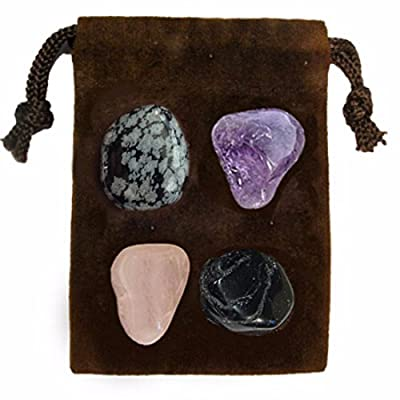 Gemstone ENERGY SET Crystal Healing - NEGATIVE ENERGY