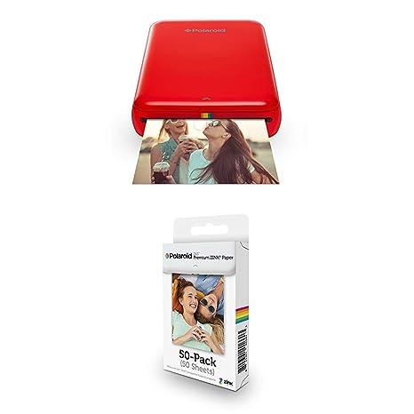 Polaroid Zip - Impresora móvil, Rojo + Paquete de 50 Hojas ...