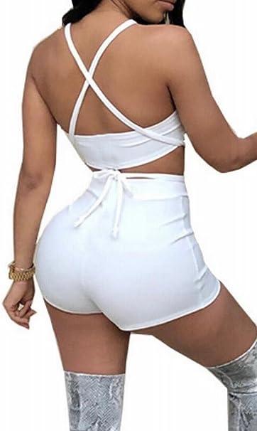 Winwinus Womens 2-Piece Ribbon Hood Splice Tracksuit Sports Jumpsuits Rompers