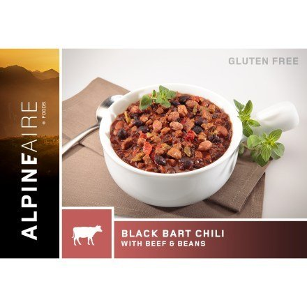 Alpine Aire Foods Black Bart Chili with Beef and Beans (Serves 2)