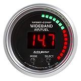 Auto Meter AutoMeter 3397 Gauge, Air/Fuel Ratio-Pro Plus, 2 1/16'', 10:1-20:1, Digital W/Peak & Warn, Sport-Comp