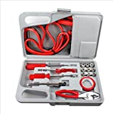 USA Premium Store 29 Pieces Emergency Roadside Car Tool Kit Jumper Drivers Cables Gloves Socket