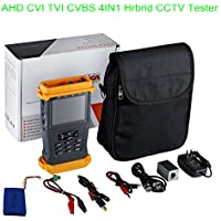 Cctv Tester Video Monitor Tester for AHD CVI TVI CVBS Cameras 3.5 LCD Monitor 3MP PTZ Test Cable Test Audio Video Test DC12V/1A Power Out Rechargeable Battery security tester