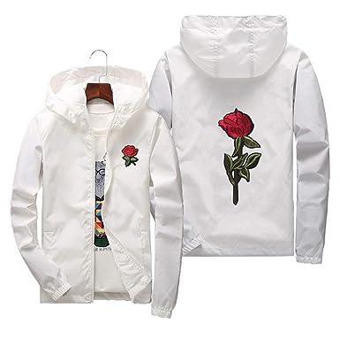 Lydianbaby Homme Sweat-Shirt Manches Longues Fleurs Roses Casual Coton Pull  Homme Sweat à Capuche c6c379a5e515