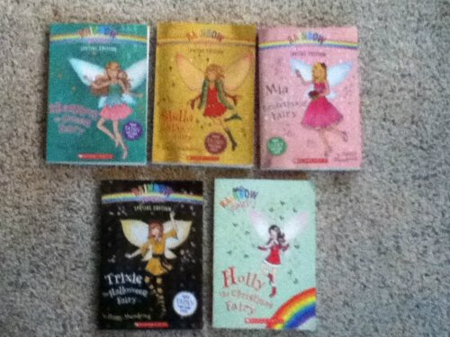 Rainbow Magic 5 Special Editions Set; Holly the Christmas Fairy, Stella the Star Fairy, Shannon the Ocean Fairy, Mia the Bridesmaid Fairy, Trixie the Halloween Fairy (Rainbow (Dancing With The Stars Halloween Special)