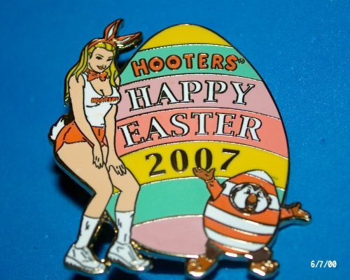 hooters-restaurant-collectable-enamel-holiday-happy-easter-2007-bunny-girl-with-egg-lapel-pin