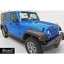 "Matte Black 4"" iBoard Running Boards Fit 07-17 Jeep Wrangler 4 Door Nerf Bar Side Steps Tube Rail Bars Step Board"