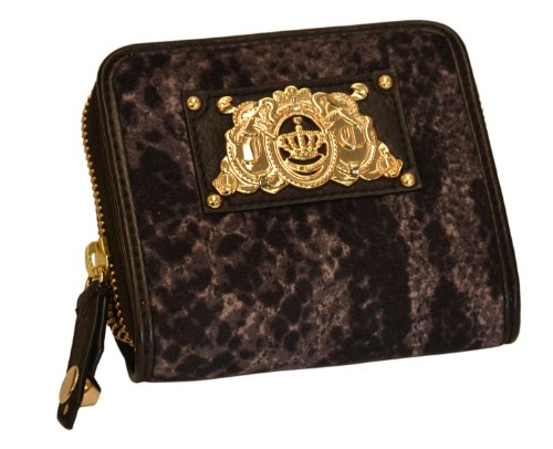 Juicy Couture Fabric SFP YSRU2399-45 Wallet,Pewter,One Size