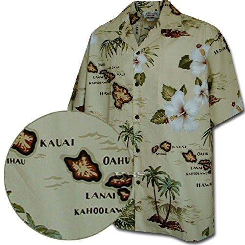 [해외]열대 지방의 하와이지도/Tropical Shirts Hawaiian Maps