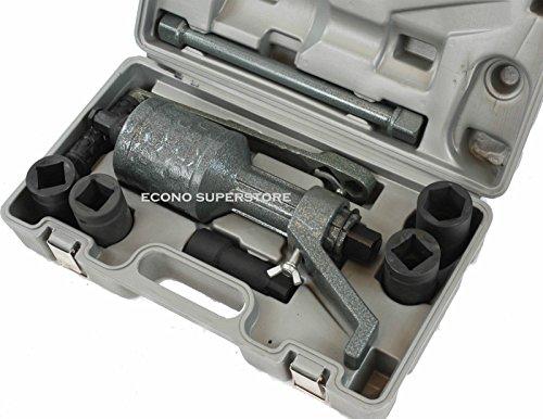 Hd Torque Multiplier Truck Trailer Rv Lug Nut Labor Saving Wrench W/ 4 Sockets (Oxide Finish Iron 38)
