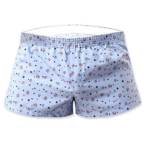 Kmart Joe Boxer - Mens Underwear Boxer Brief Broad Shorts Cotton Sexy Dot Panties Home Breathable Underpants,Blue Star,L