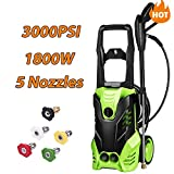 Homdox 3000 PSI Electric Pressure Washer, High Pressure Washer, Professional Washer Cleaner Machine