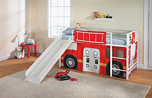 Firetruck Slumber N Slide Loft Bed Curtain Set