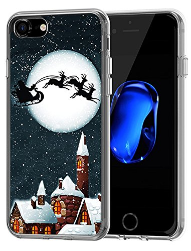 Cute Protective iPhone 8 / iPhone 7 Case 4.7 inch Bright Full Moon in Christmas