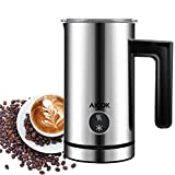 Aicok Milk Frother, Stainless steel Electric Milk Steamer, Heater and Foamed for Coffee, Latte, Cappuccino