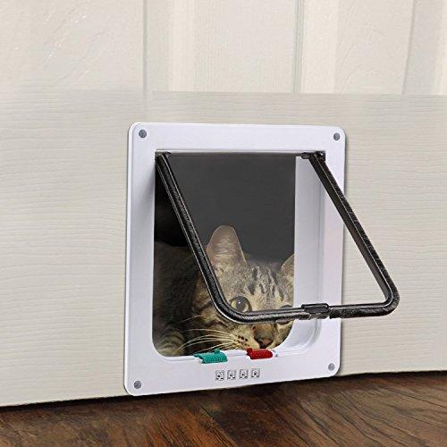 HOMEE Built in Lockable Pet Cat Dog Doors with 4 way