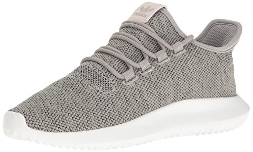 adidas Originals Women's Tubular Shadow w Fashion Sneaker, Medium Grey Heather/Sharp Grey/White, 5.5 M US by adidas Originals
