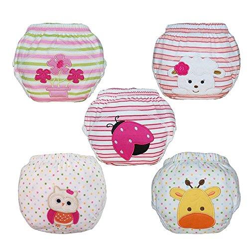 Infant Training - Babyfriend Baby Infant Kids Girl 5 Pack Training Pants
