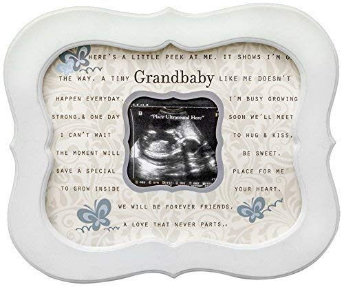 Keepsake Grandbaby Ultrasound Sonogram Poetry Scalloped Frame