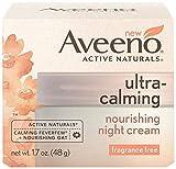 Aveeno Ultra Calming Moisturizer Aveeno Ultra-Calming Nourishing Night Cream, Fragrance Free, 1.7 Ounce