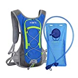 AUTO STAR KBNI Hydration Pack with 2L Water Bladder for Women Men Kids – This Backpack Keeps You Cool and Great for Outdoor Sports of Running Hiking Camping Climbing Cycling Skiing (Sky Blue)