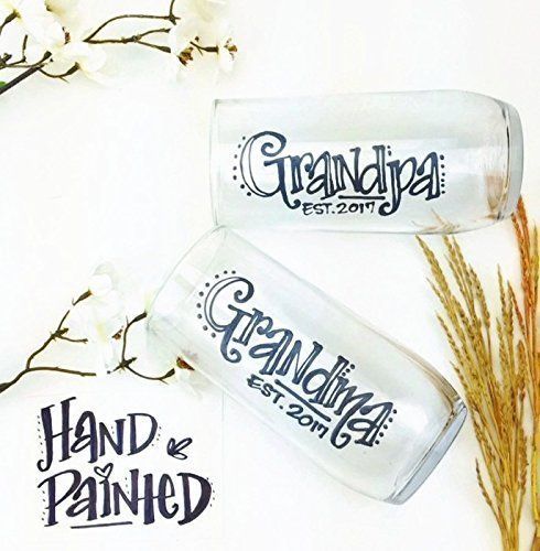 Amazoncom Set Of 2 Hand Painted Grandma Grandpa Established
