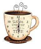 one wall kitchen Young's Wood Take Life Coffee Wall Clock, 13.75""