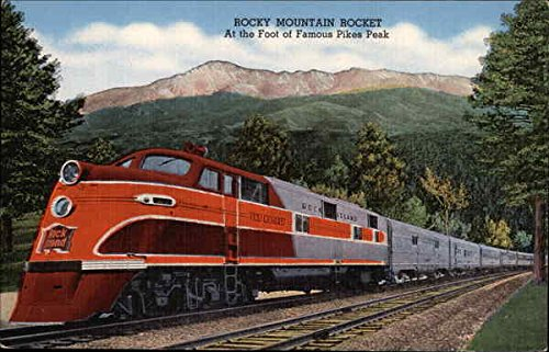 Rocky Mountain Rocket Locomotives Original Vintage Postcard